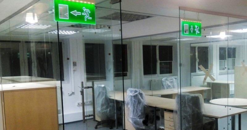 Partitii birouri sticla